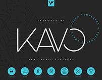 Kavo Sans Serif Typeface   Free font