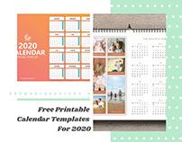 Free Printable Calendar Templates For 2020
