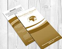 Executive Search International Roll Fold Brochures