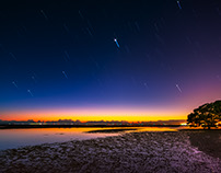 Star Trails at Sunrise - Nudgee Beach