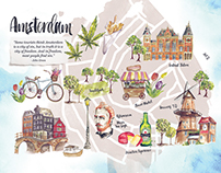 European Cities Illustrated Maps