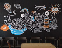 """""""PastaWorld"""" wall for WarPas Project in Malang"""
