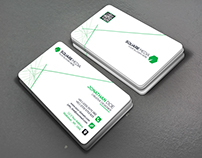 Business card with line Composition
