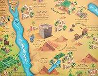 خريطة قصص القرآن الكريم، خريطة توضيحية...