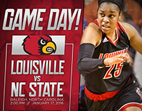Louisville Women's Basketball Game Day Graphics