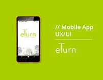 Mobile App Design for e-turn