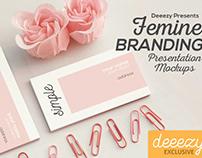 Free Femine Branding Mockups