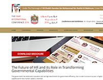 The FAHR International Conference - Website Design
