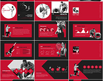 29+ Best red fitness PowerPoint template