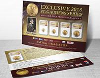 Gold Coin Postcard Design