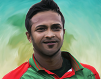 Sakib Al Hasan Number One All rounder's Paint