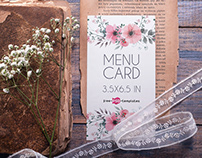 Free Menu Card Mock-up in PSD
