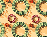 Paper Sculpture Repeat Pattern