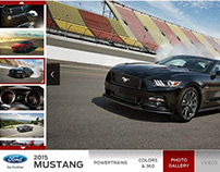 2015 Ford Mustang Homepage Takeover
