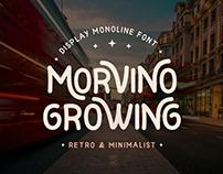 Morvino Growing Retro Monoline Font