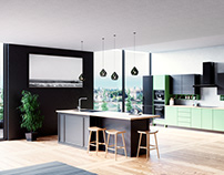 Kitchen Visualization Cinema 4D + Corona