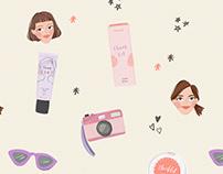 Emina Cheeklit Cream Blush Pattern