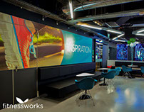 Fitness Works Identity and Interior Decoration