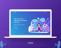 Yoga Header Design.
