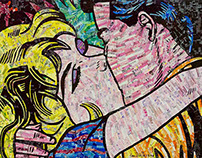 Lichtenstein's Kiss II