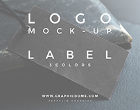 Free Logo Label Mock-up 1