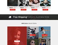Fashion ecommerce webpage mock up
