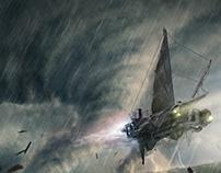 Tornado - matte painting