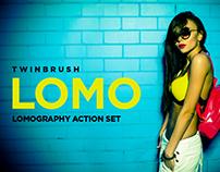 Lomograph effect action set for Photoshop.