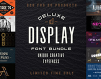 The Deluxe Display Font Bundle - Limited Time Only