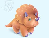 Cheese dinosaur