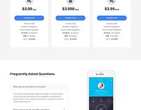 App Landing Website By Azam Shafiul