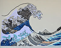 The Great Wave Collage