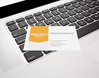 Business Card Mockup on MacBook Pro