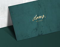 DONs Studio – Business card design