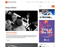 Podcasts Page - Music WordPress Theme