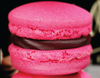3D RED MACARON
