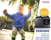 hhgregg + Samsung Social Channel Posts