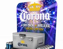 Floordisplay campaña Corona
