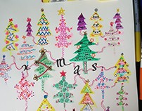 Doodles 17 - Christmas Trees