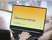 Laptop Mockup Summer Scenes