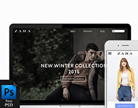 E-commerce template / Zara redesign freebie[free Psd]