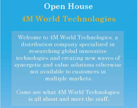 Open House Flier/Handout 4M World Technologies
