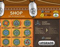 Ninja Defender Game Shop UI