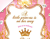 Gold Princess Invitation Set