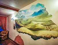 "Wall painting ""Tuscany view"""