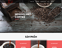 Hoang Net coffee demo homepage 1