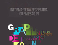 """ESAQ"" Graphic Design Course Poster"