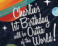 Outta of this World Birthday Invitation