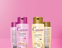 Caresse Lotion Label Design
