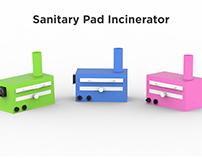 Household sanitary pad incinerator